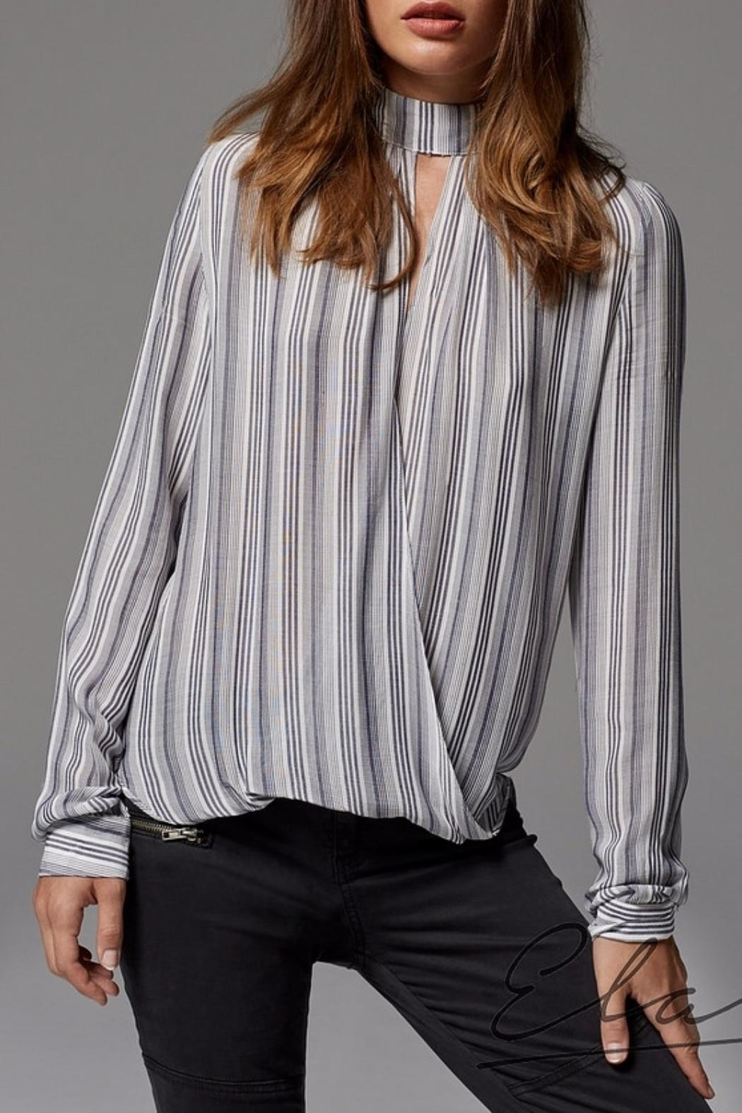 Elan High Neck Blouse - Main Image
