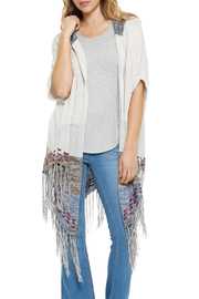 Shoptiques Product: Hooded Fringe Cardigan