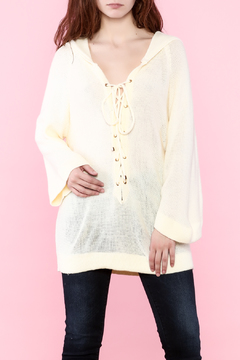 Shoptiques Product: Cream Hooded Sweater
