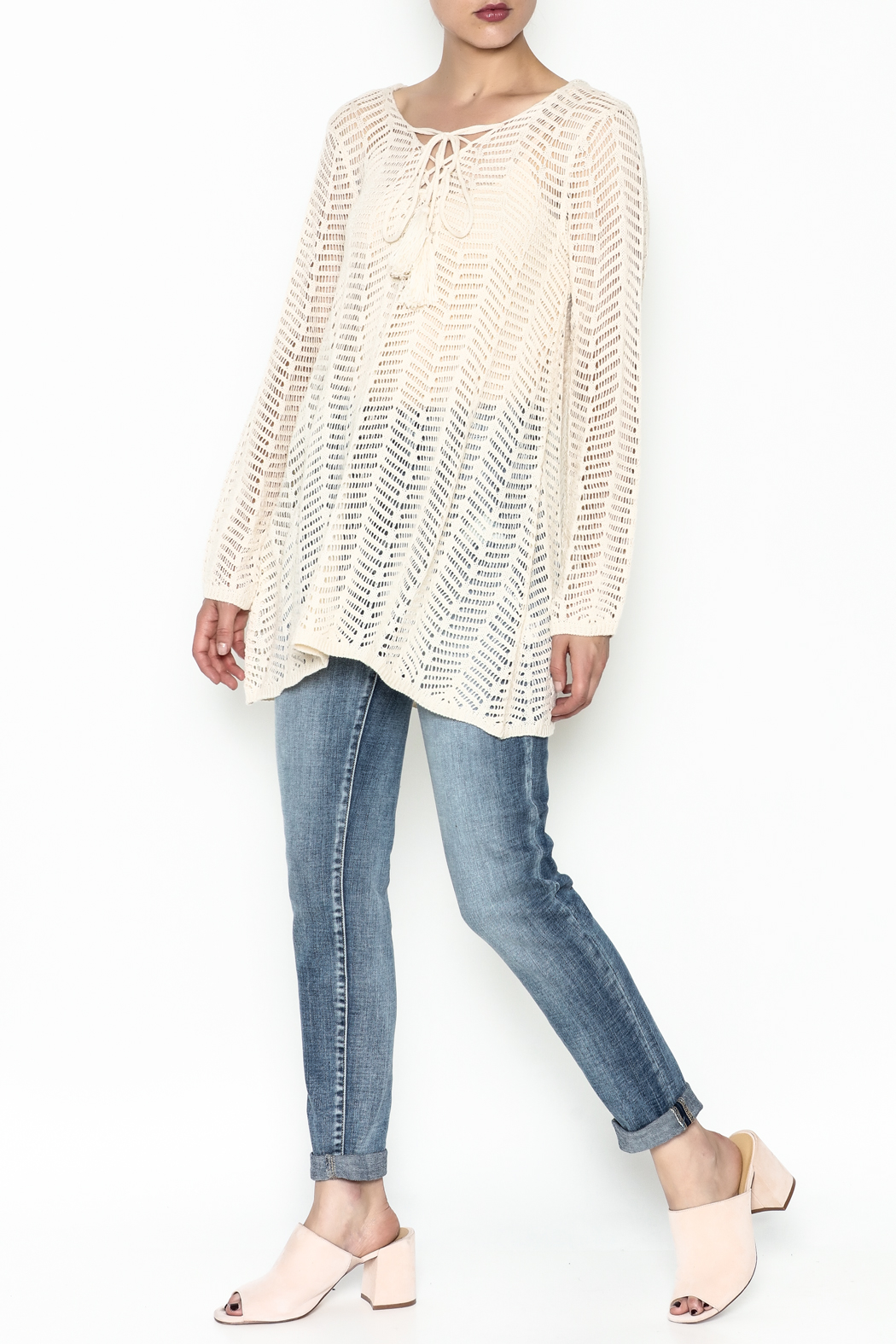 Elan Hooded Tunic - Side Cropped Image