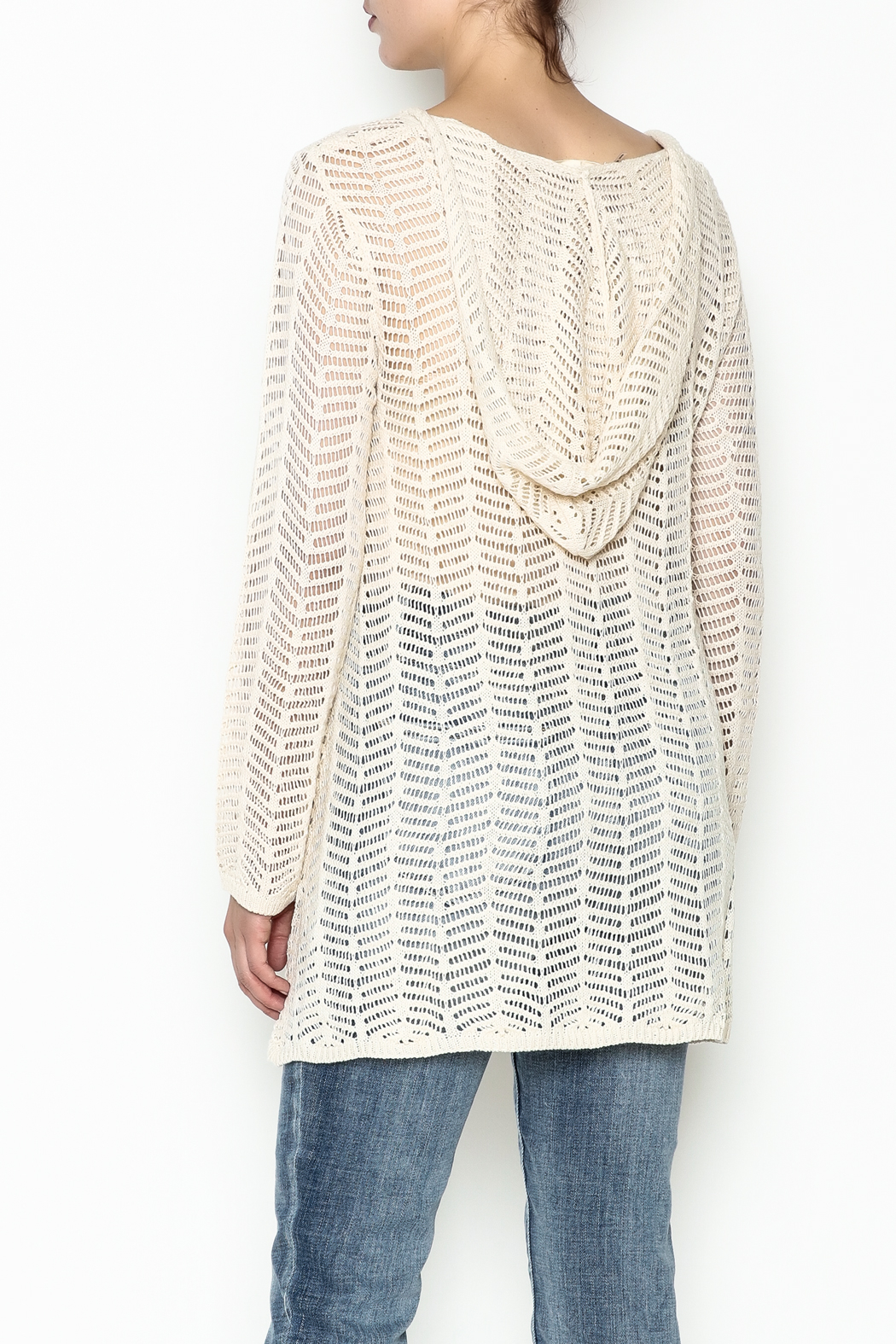 Elan Hooded Tunic - Back Cropped Image