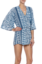 Elan Blue Print Romper - Product Mini Image