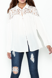 Elan Ivory Lace Blouse - Product Mini Image