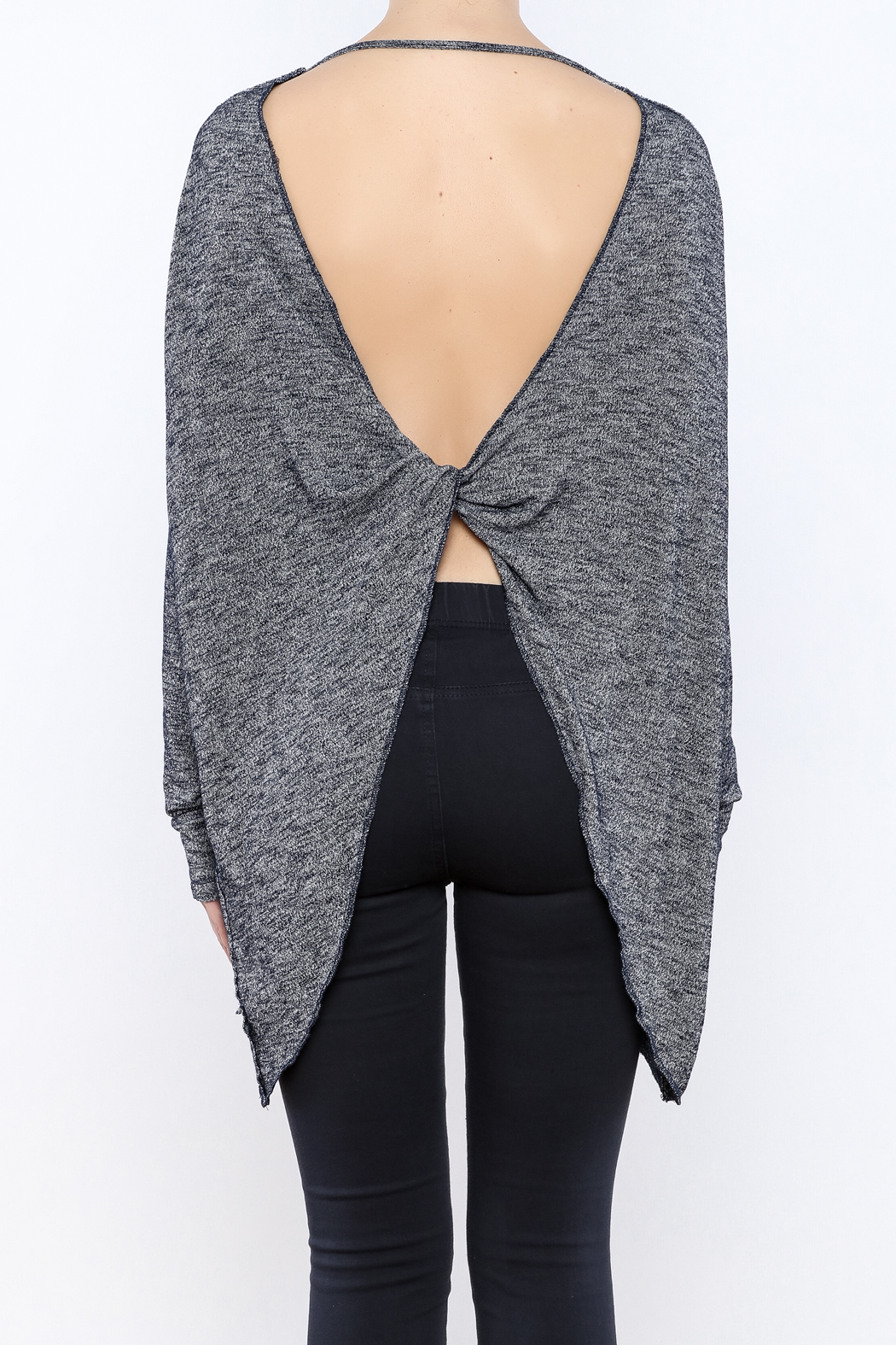 Elan Knotted Open Back Top - Back Cropped Image