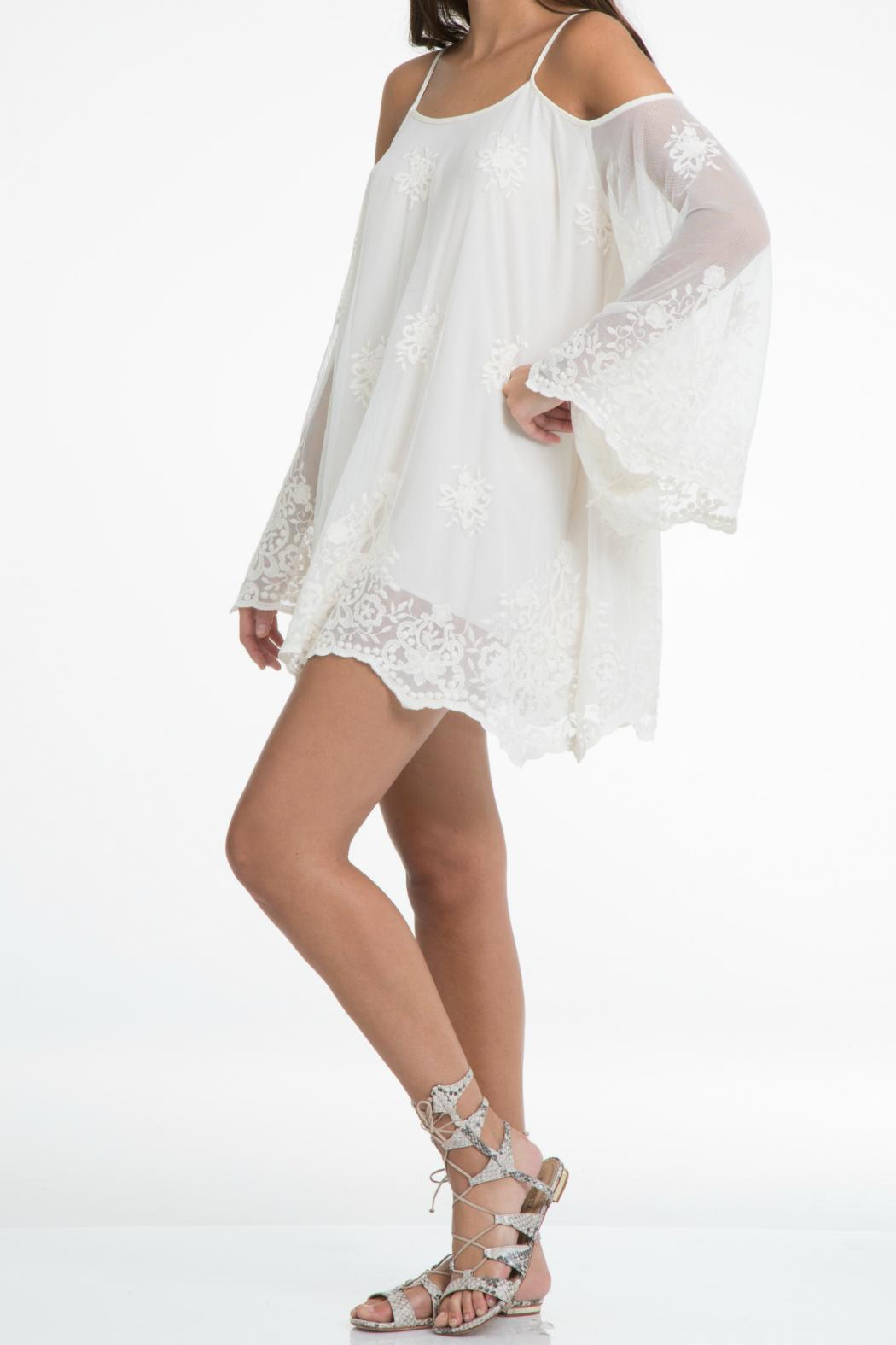 Elan Lace Cold Shoulder Dress - Main Image
