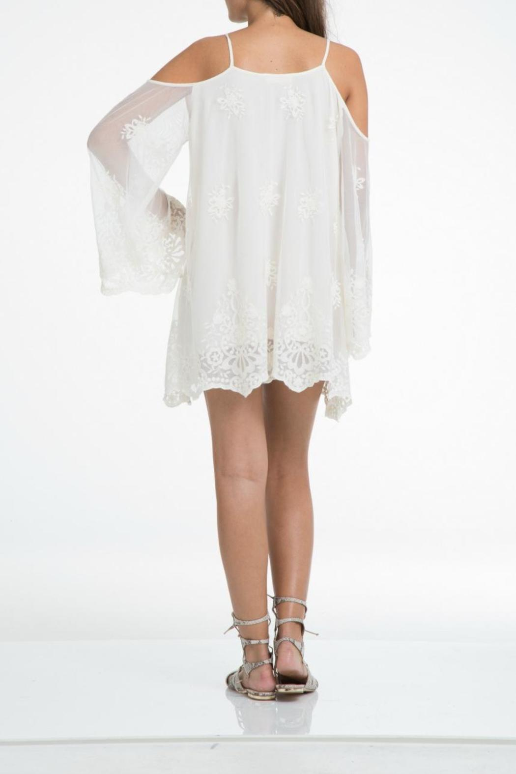 Elan Lace Cold Shoulder Dress - Front Cropped Image