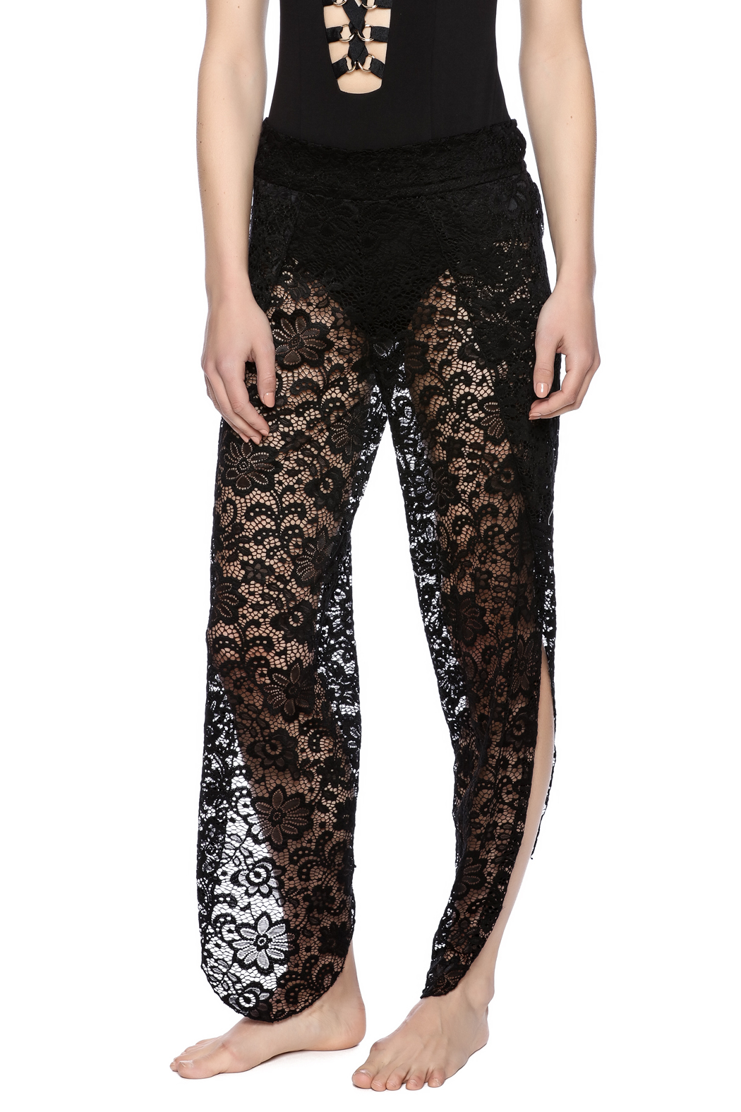 elan lace pant coverup front cropped image