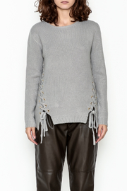 Elan Lace Up Sweater - Front full body