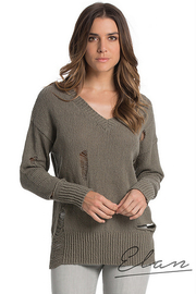 Elan Long Sleeve Distressed Sweater - Product Mini Image