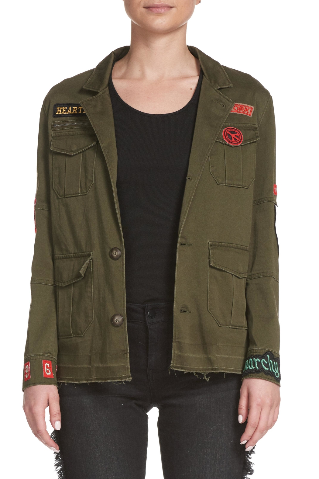 Elan Military Inspired Jacket - Front Cropped Image