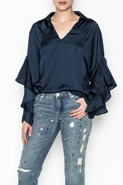 Elan Muffled Sleeved Top - Product Mini Image