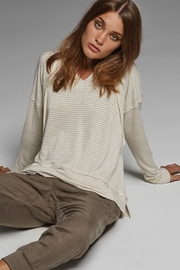 Elan Oatmeal Striped Top - Product Mini Image