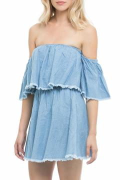 Shoptiques Product: Off Shoulder Denim Dress