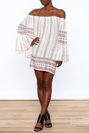 Elan Red Stripe Shift Dress - Front full body