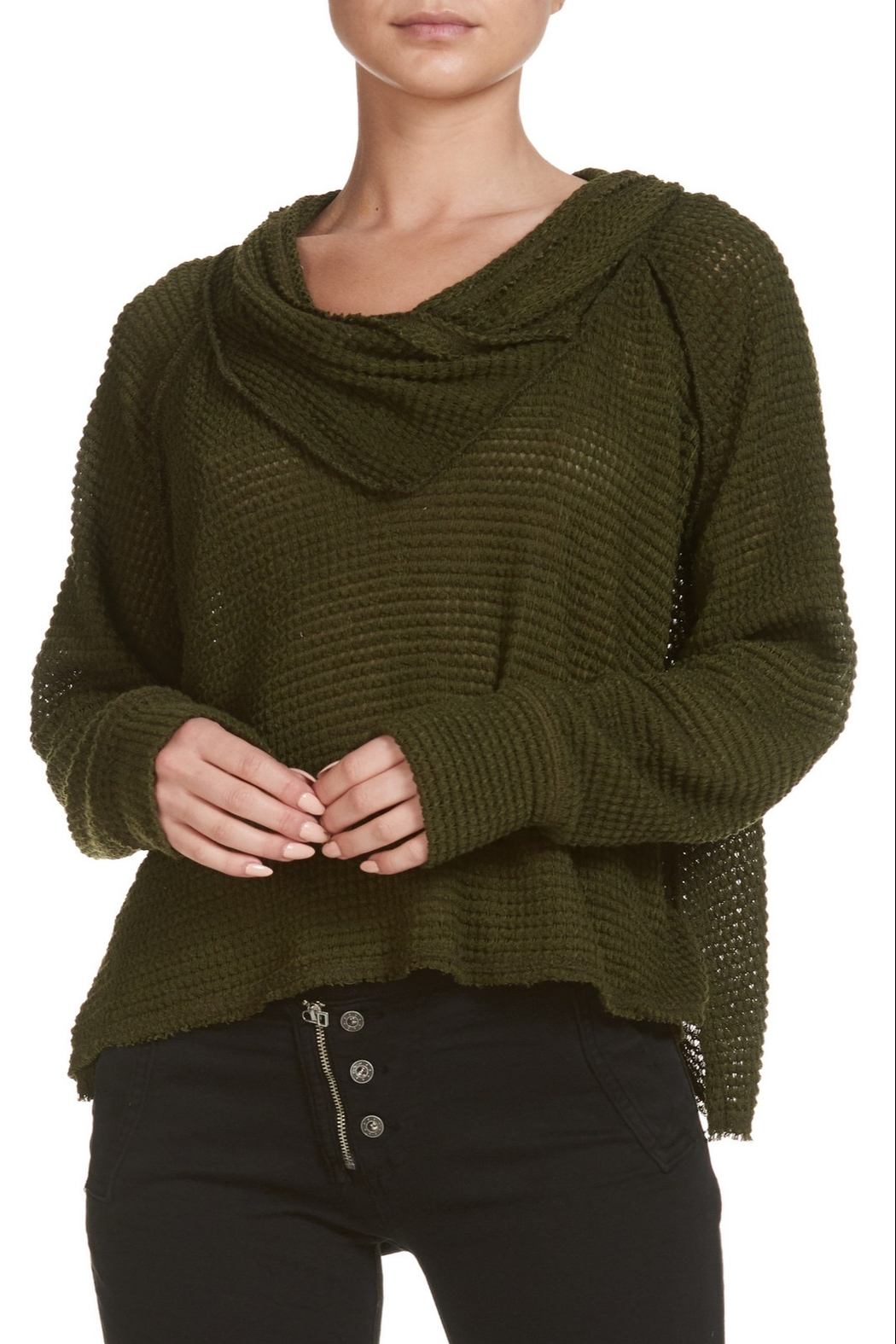 Elan Off the Shoulder Long Sleeve Top - Main Image