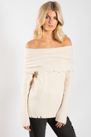 Elan Off The Shoulder Sweater - Front cropped