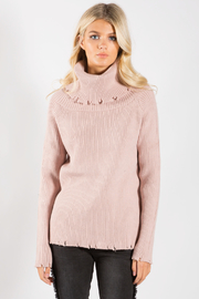 Elan Off The Shoulder Sweater - Front full body