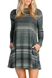 Elan Olive Stripe Dress - Product Mini Image