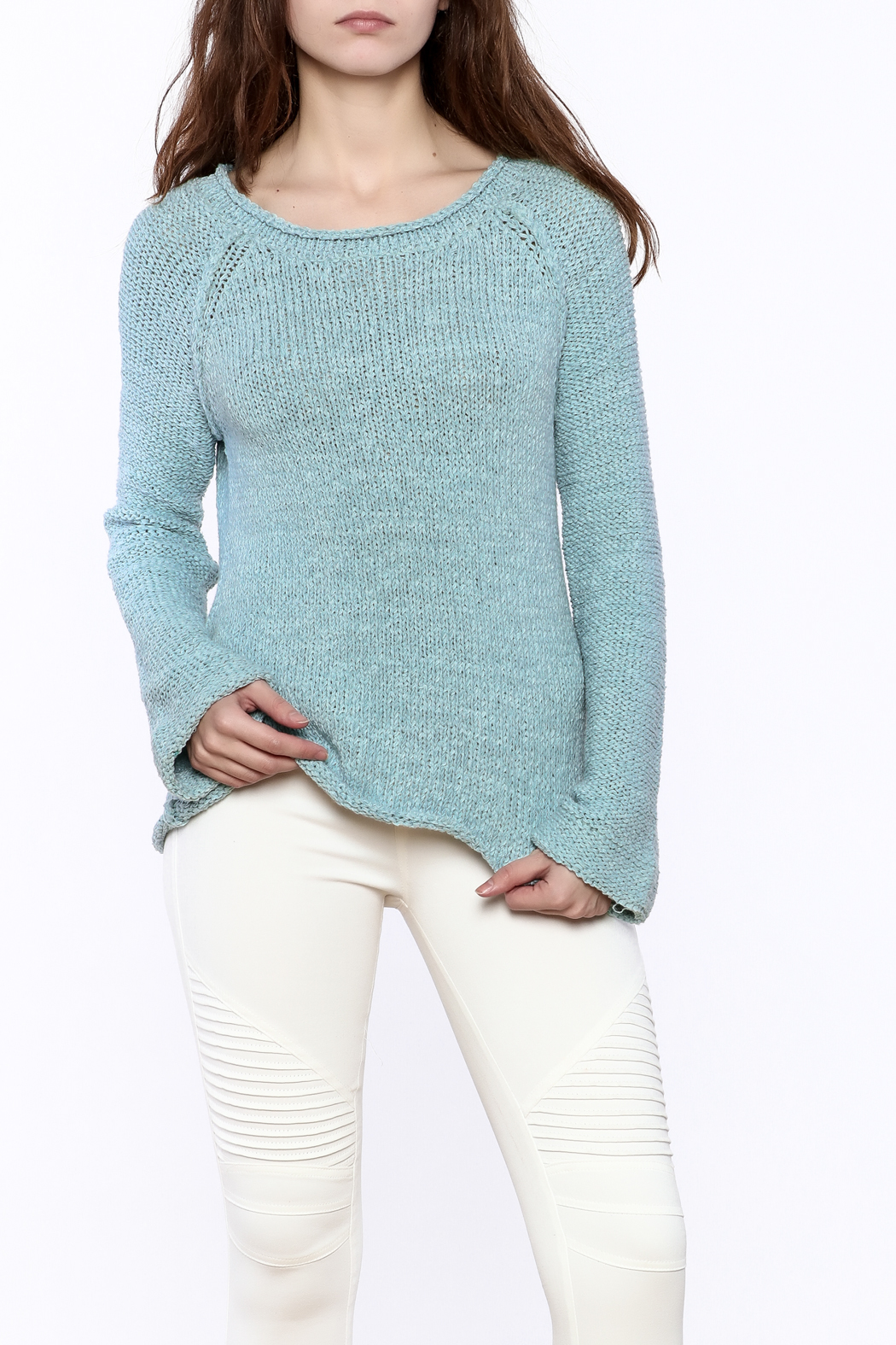 Elan Open Back Sweater - Front Cropped Image