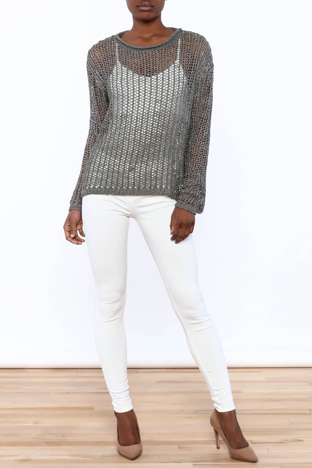 ec17b8ab29768 Elan Open Knit Sweater from New York by Dor L Dor — Shoptiques