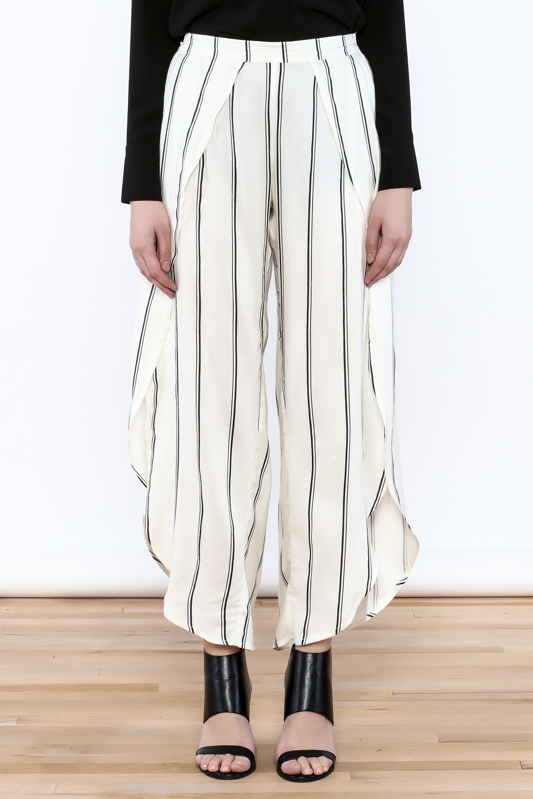 Elan Open Leg Stripe Pants from Manhattan by Dor L'Dor — Shoptiques