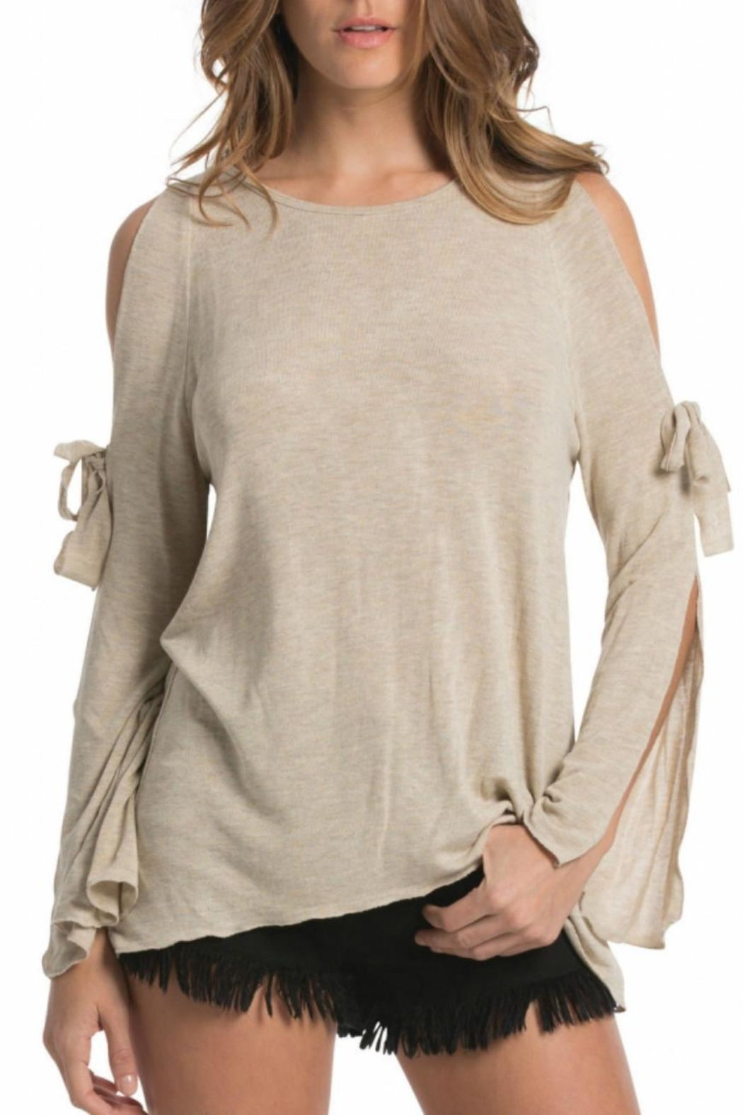 Elan Open Tie Sleeve - Front Cropped Image