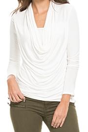Elan Plunged Cowelneck Top - Front cropped