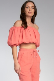 Elan Polly Off The Shoulder Top - Front full body