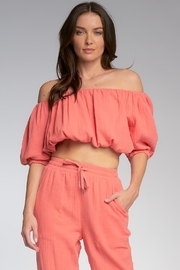 Elan Polly Off The Shoulder Top - Product Mini Image