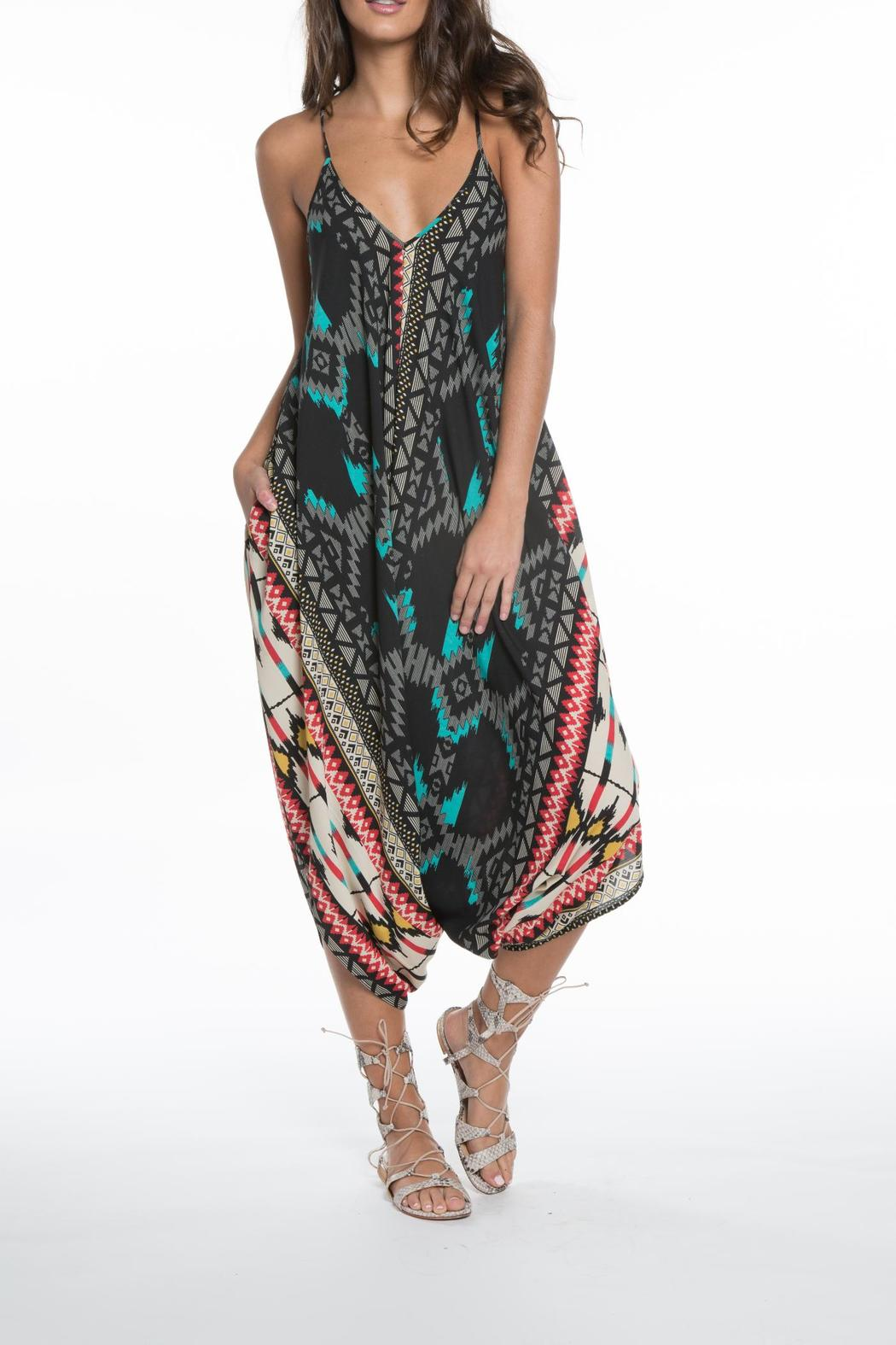 00febca748a Elan Printed Genie Jumpsuit from Miami by Allie   Chica — Shoptiques