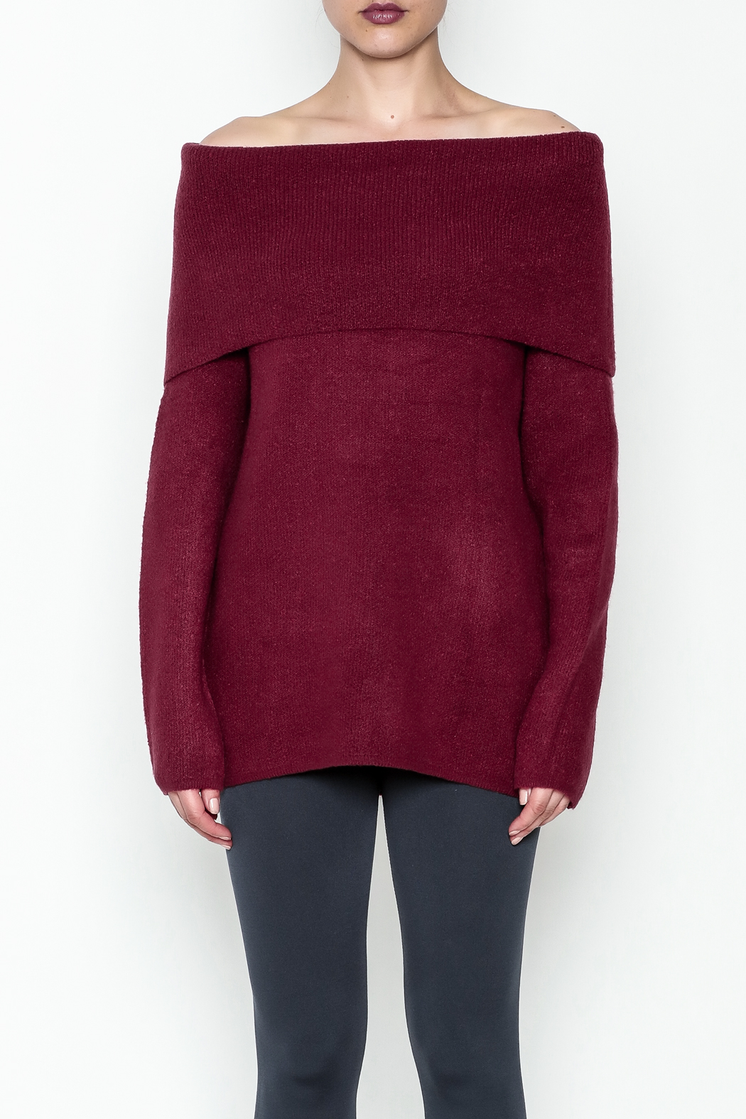 Elan Pullover Knit Sweater - Front Full Image