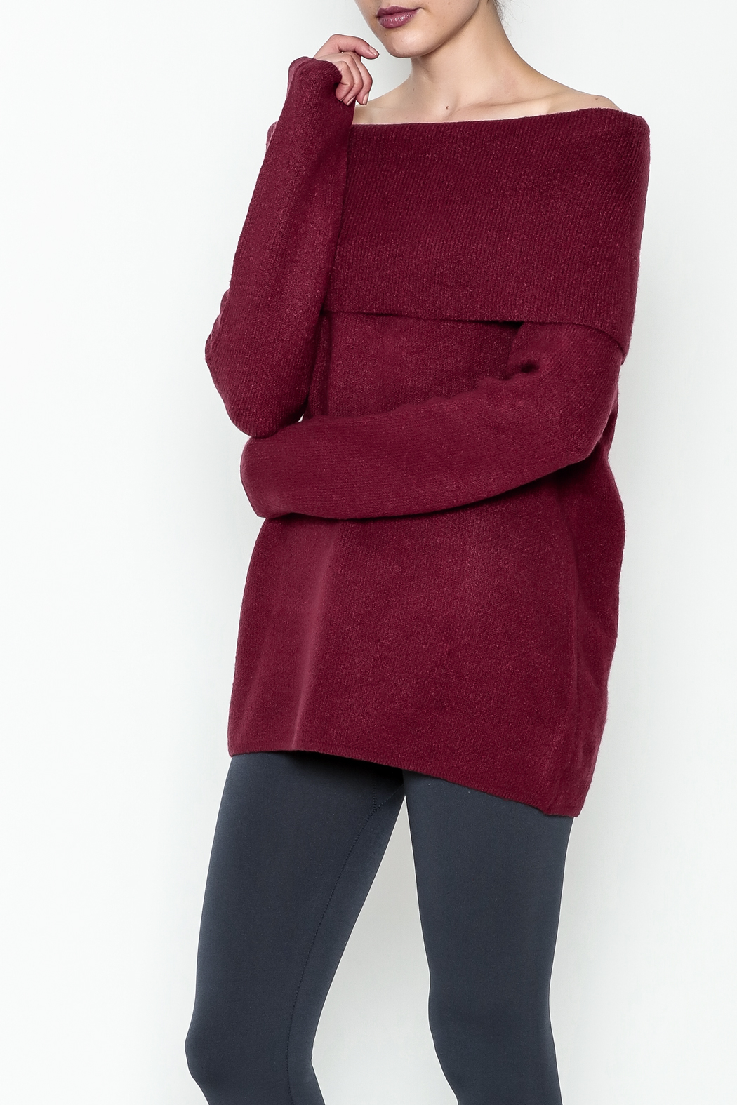 Elan Pullover Knit Sweater - Front Cropped Image