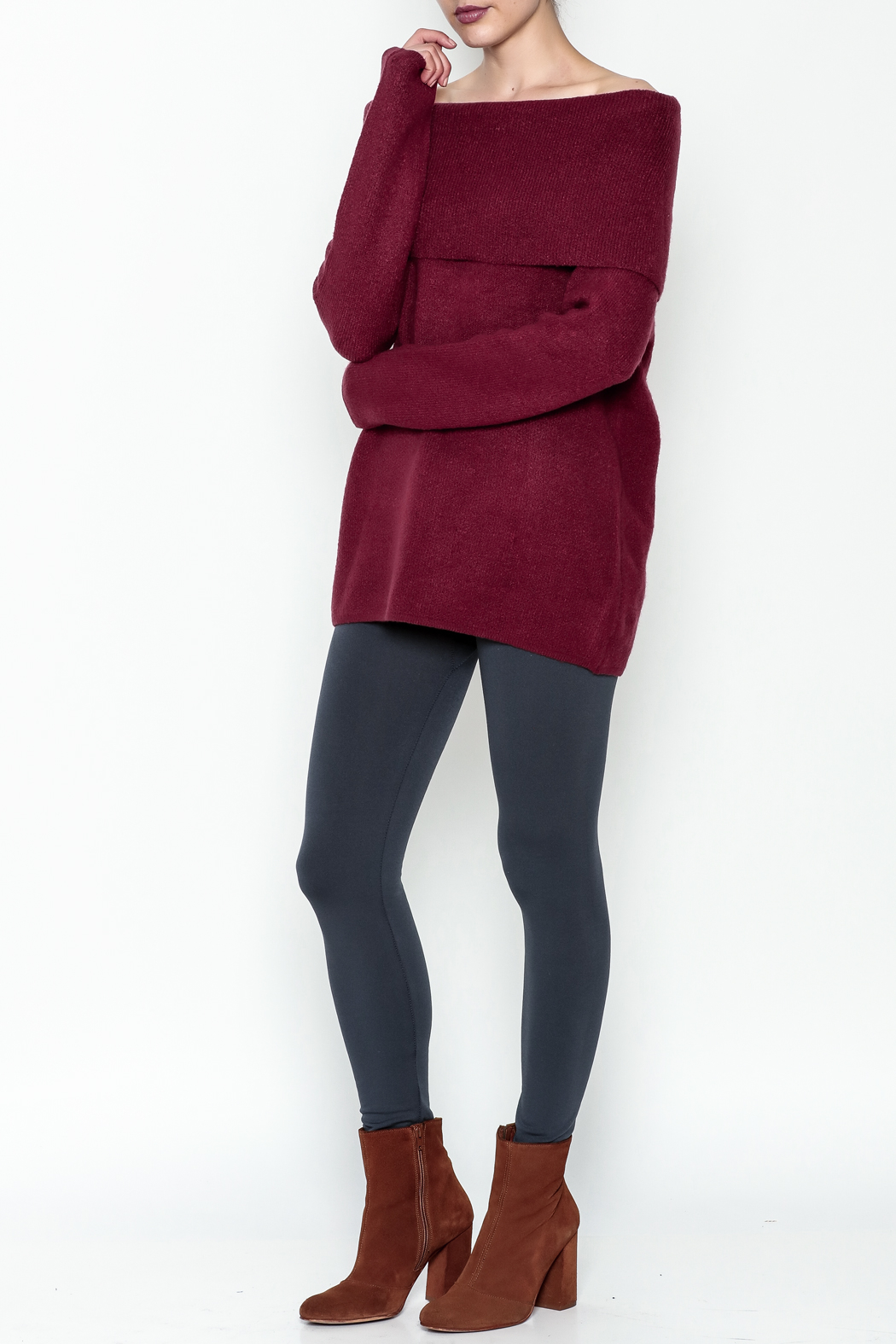 Elan Pullover Knit Sweater - Side Cropped Image