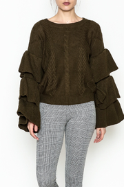 Elan Ruffle Sleeve Sweater - Product Mini Image
