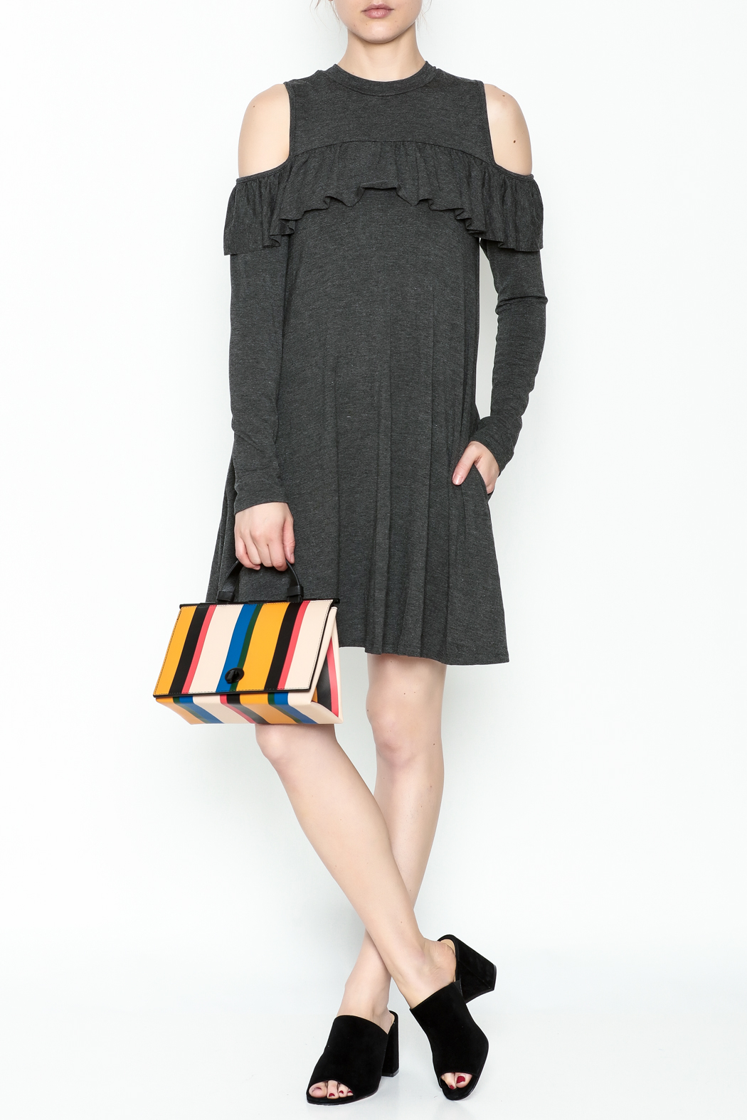 Elan Ruffle Swing Dress - Main Image