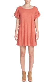 Elan Ruffle T-Shirt Dress - Front cropped