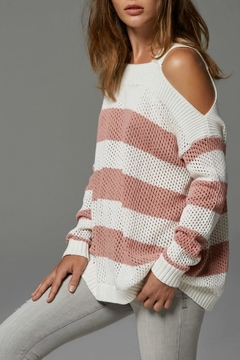 Shoptiques Product: Salmon Stripe Sweater