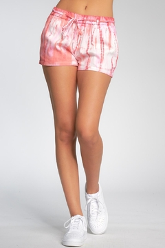 Elan Shorts With Drawstring - Coral Tie Dye - Product List Image