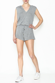 Elan Sleeveless Hooded Romper - Side cropped
