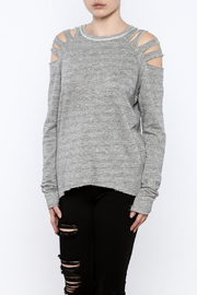 Elan Slit Shoulder Sweatshirt - Product Mini Image
