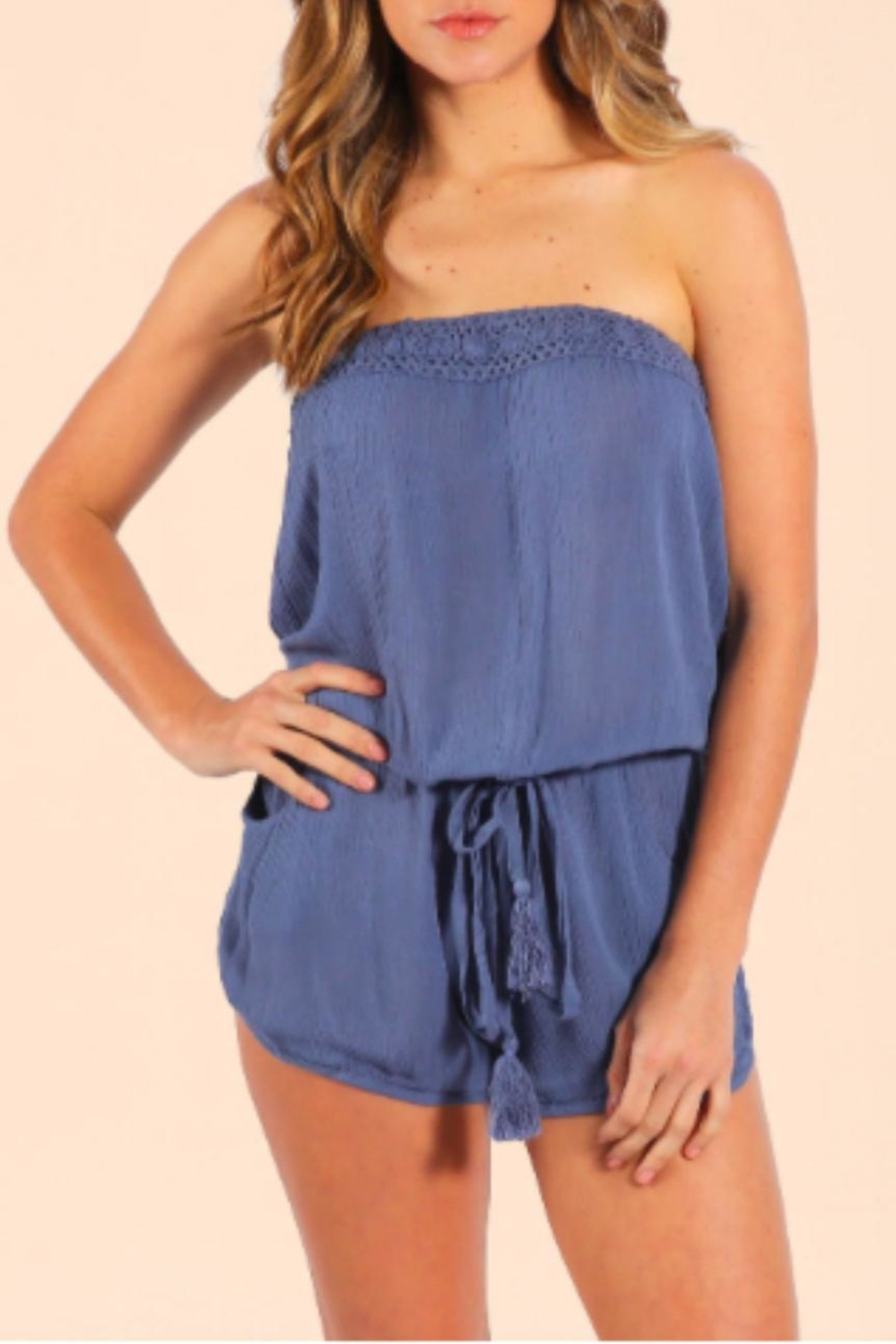 Elan Strapless Romper - Front Cropped Image