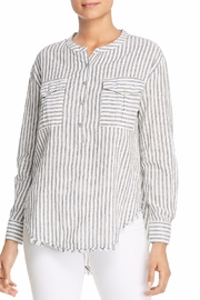 Elan Stripe Henley Top - Product Mini Image