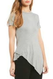 Elan Striped Asymmetrical Tee - Product Mini Image