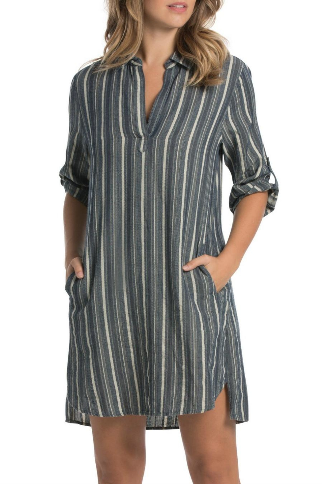 Elan Striped Pullover Dress - Main Image