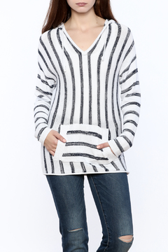 Shoptiques Product: Striped Pullover Hoodie