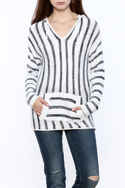 Elan Striped Pullover Hoodie - Product Mini Image