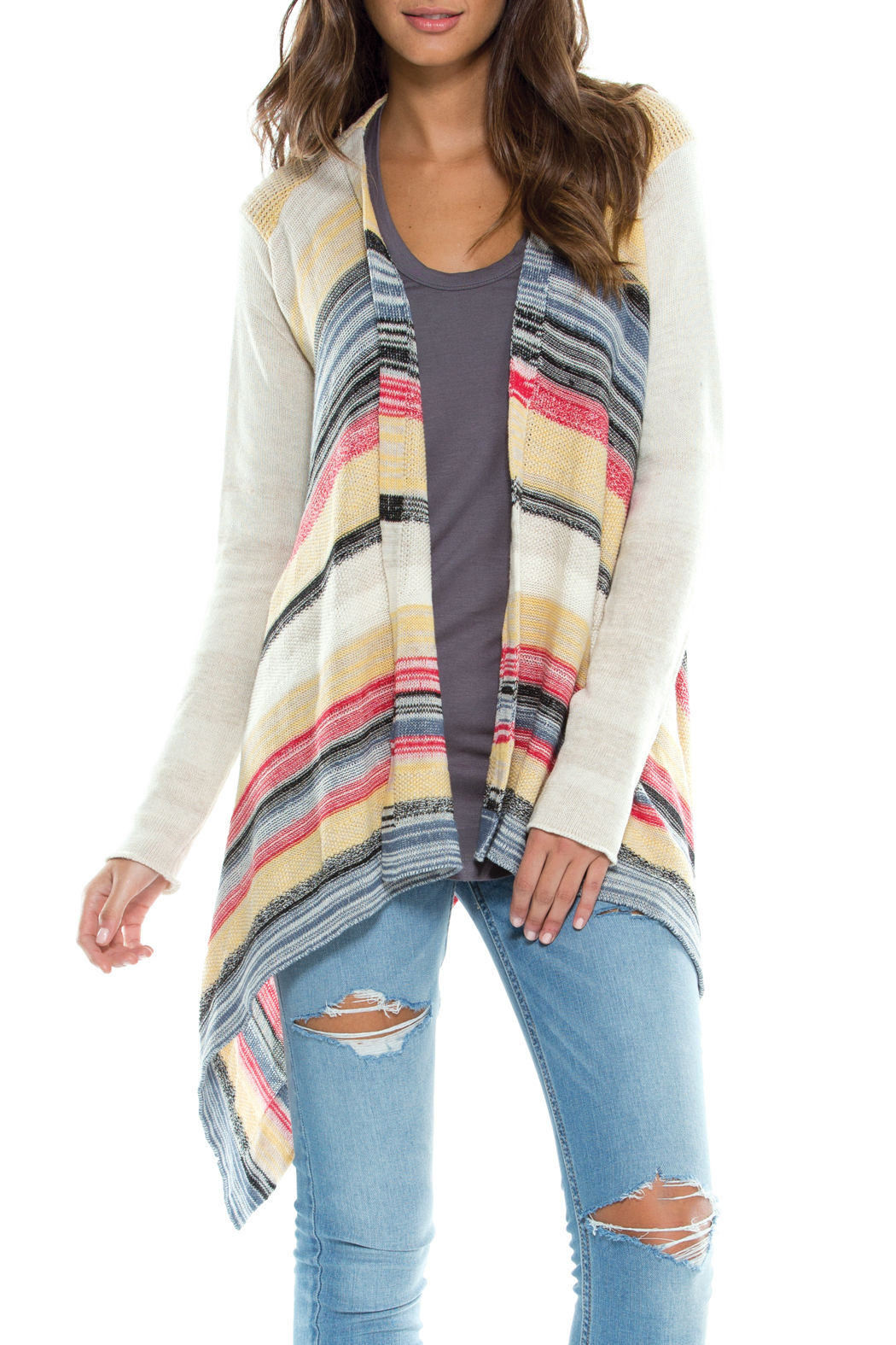 Elan Striped Sweater Cardigan from Ohio — Shoptiques