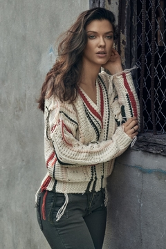 Elan Sweater With Fringes - Alternate List Image