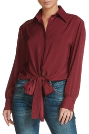 Elan Tie Front Blouse - Product Mini Image