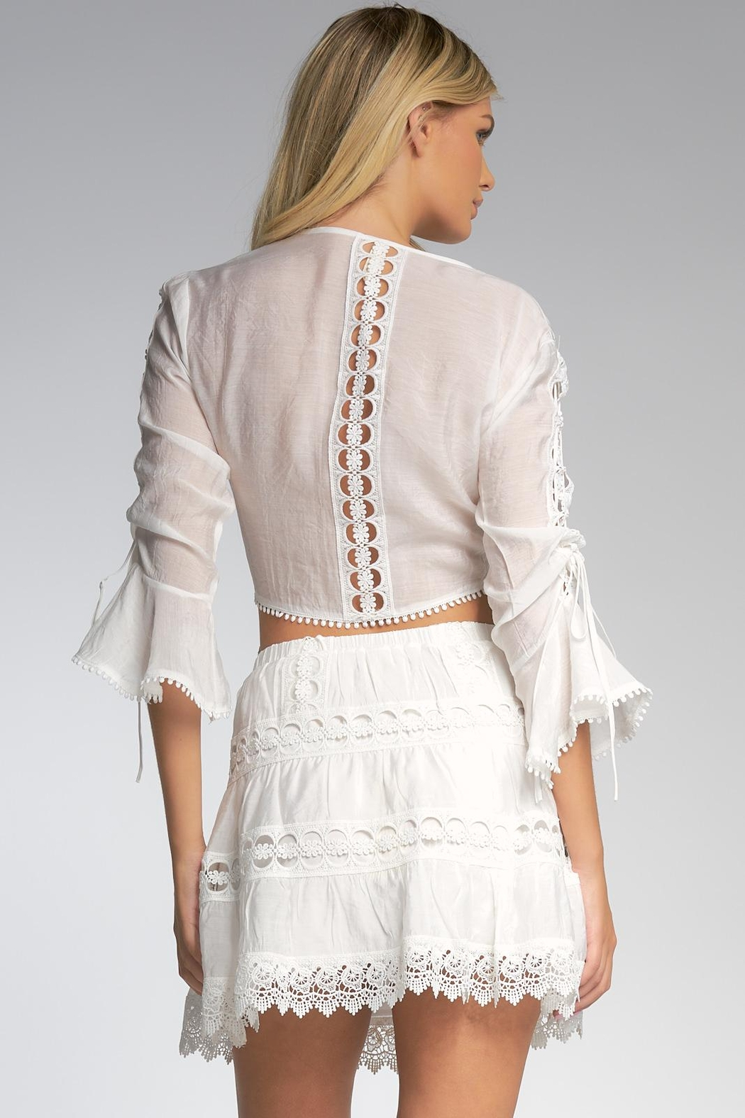 Elan Top With Bell Sleeves - Back Cropped Image